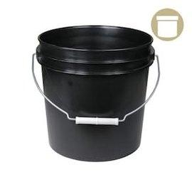 DL Wholesale 2 Gal. Black Bucket w/ handle