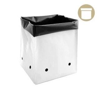 DL Wholesale 1/2 Gal B&W PE Grow Bag (100-pack)