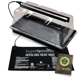 Propagation Kit - Heat Mat, Dome, Flat, 72 site Insert, Plugs and 2 Ft. T-5 strip light