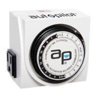 Autopilot AutoPilot Dual-Outlet Analog Timer, 1875W, 15A, 15Mins On/Off, 24Hr