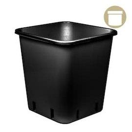 DL Wholesale 6.5 Gal Black Square Pot