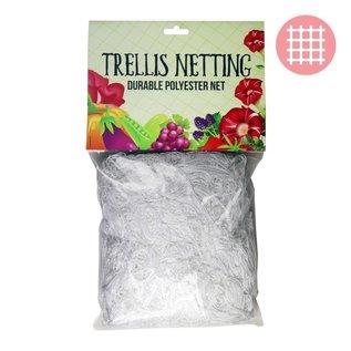 """DL Wholesale DL Wholesale 5'x15' Trellis Netting White 6"""" squares"""