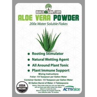 Build A Soil BuildASoil 200x Aloe Vera Powder Flakes Certified Organic 1 Oz.