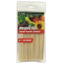 Luster Leaf® Rapiclip® Wood Plant Labels - 6in - 24pk