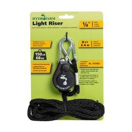 """Hydrofarm Hydrofarm Light Riser Hanging System w/Push Button Release, 1/4"""""""