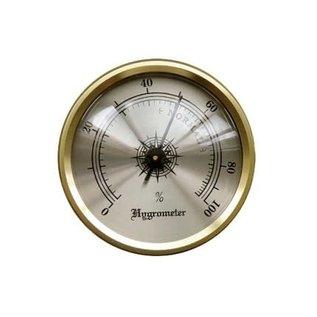 "Analog Brass Frame Hygrometer  1.7"""