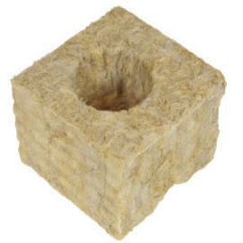 "Grodan GRODAN GRO-BLOCKS Improved  Delta 4, 3"" x 3"" x 2.5"" w/ Holes,  single"
