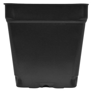 "Gro Pro Black Square Shuttle Pot, 3.5"" x 3.5"" x 3.5"