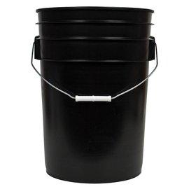 Black Bucket with Handle 6 gal