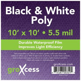 GroXcess Black and White Poly, 10' x 10