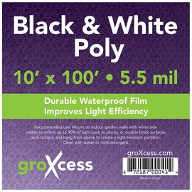 GroXcess Black and White Poly 10 x 100