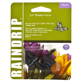 Raindrip Double Barbed Valve 1/4