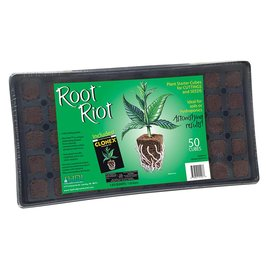 Hydrodynamics International HydroDynamics Root Riot Tray with 50 Root Riot Starter Cubes