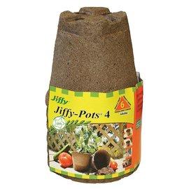 """Jiffy Jiffy Jiffypots, 4"""" Round, 6 Pack"""