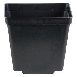 Gro Pro Square Pot Black, 4 in x 4 in x 3.5 in