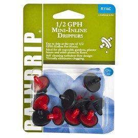 Raindrip Mini In-Line Drippers, 1/2 gph