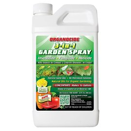 Organicide BeSafe 3-in-1 Garden Spray Concentrate qt