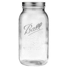 Ball Ball Jar Wide Mouth, 1/2 gal