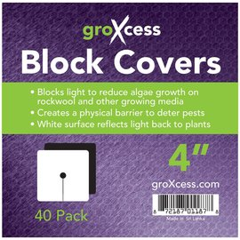"groXcess GroXcess Block Cover 4"", 40 Pack"