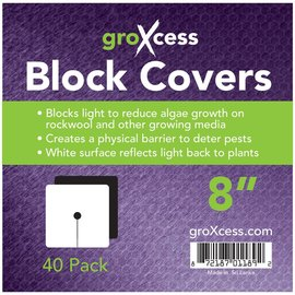 "groXcess GroXcess Block Cover 8"", 40 Pack"