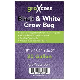GroXcess Black and White Grow Bags 20 gal