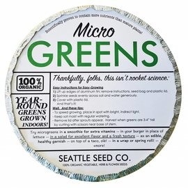 Organic Microgreens Starter Kit  (Round Tin)
