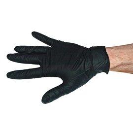 Disposable Black Nitrile Gloves Large, 100 Pack