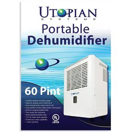 Utopian Utopian Systems Portable Dehumidifier, 60 Pint