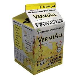 Vermicrop Organics Vermicrop Organics VermiAll Broad Spectrum Dry Fertilizer, 4 lb