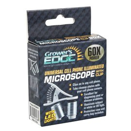 Growers Edge Grower's Edge® Universal Cell Phone Illuminated Microscope with Clip - 60x