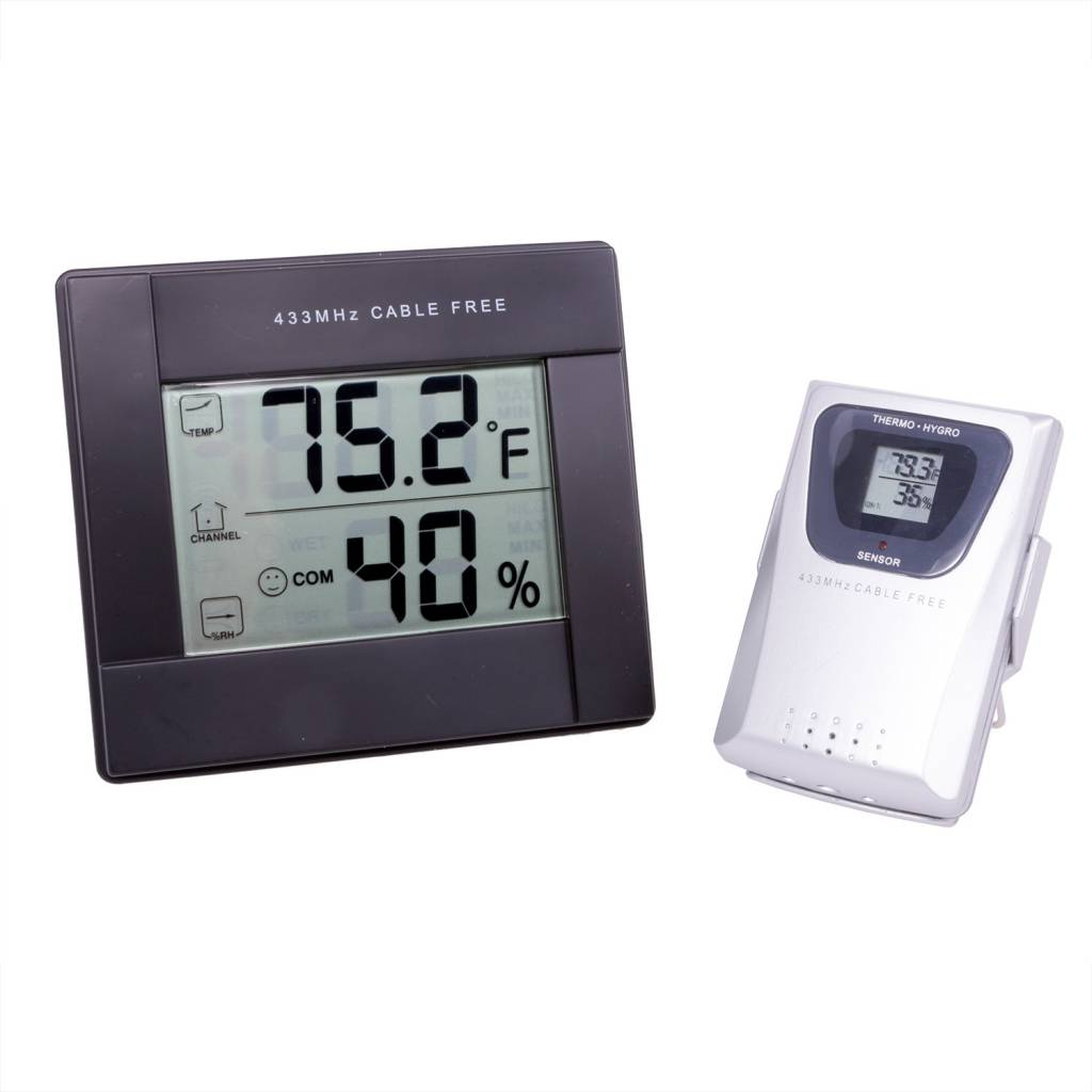 ProductsGrowers Edge Grower's Edge Digital Thermometer / Hygrometer w/  Remote Sensor - Tampa Hydroponic Company