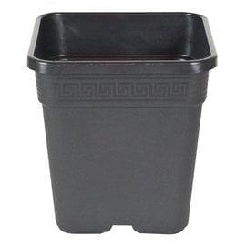 """Gro Pro Gro Pro Black Square  Pot, 7"""" x 7"""" x 7.5, 1 Gallon"""