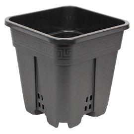 """Square Plastic Cone Pot, 9"""" x 9"""" x 10"""