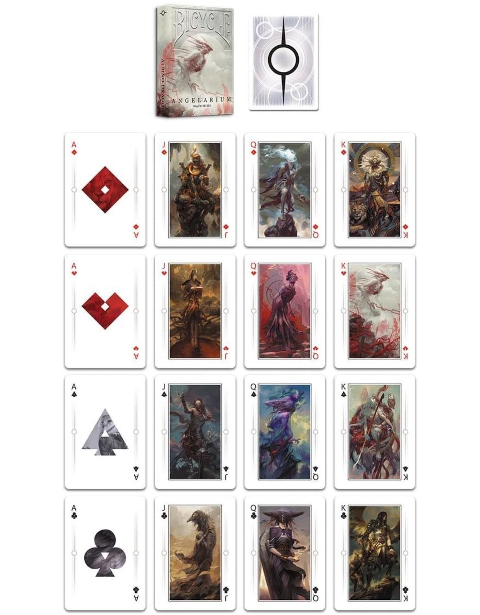 Albino Dragon Playing Cards: Angelarium- Watchers