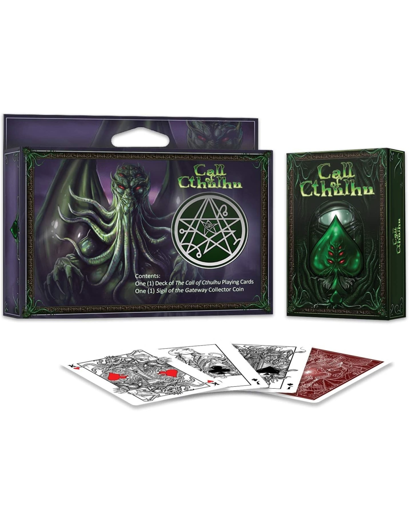 Albino Dragon Playing Cards: Cthulhu Gift set