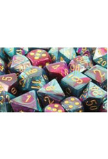 Chessex Polyhedral 7 Dice Set Gemini Purple-Teal w/Gold CHX26449