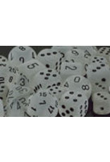 Chessex Polyhedral 7 Dice Set Frosted Clear w/Black CHX27401