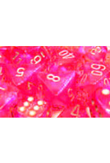 Chessex Polyhedral 7 Dice Set Borealis Pink w/Silver CHX27404