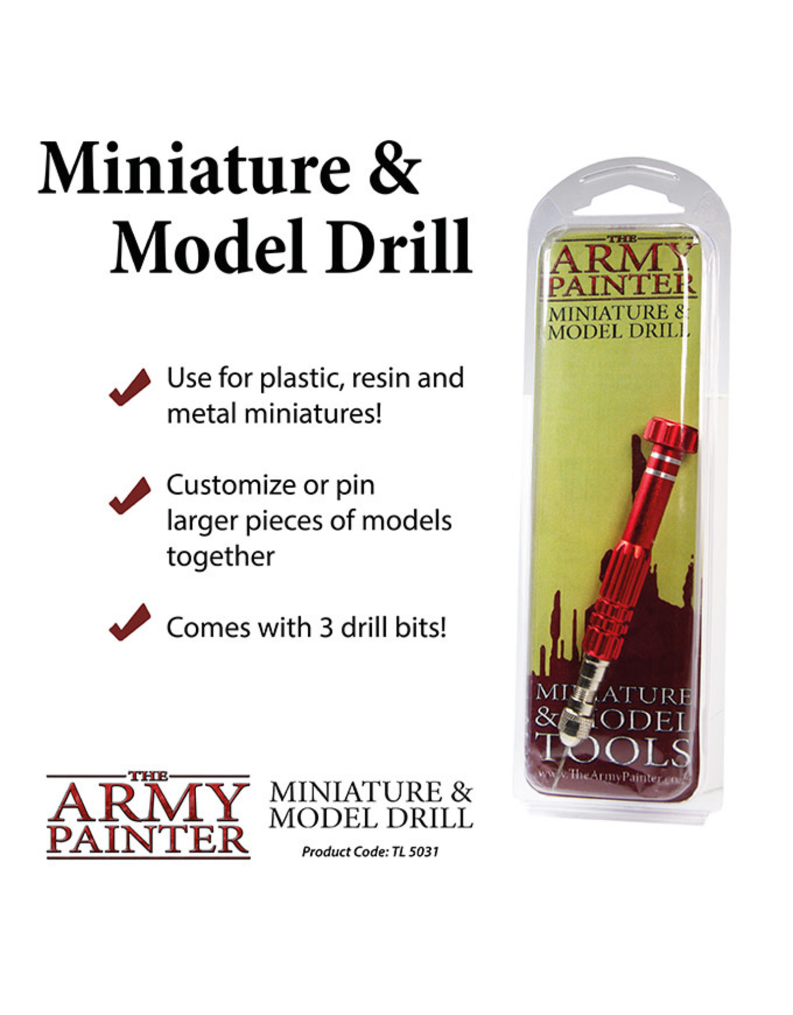 Army Painter Army Painter: Tool Miniature and Model Drill