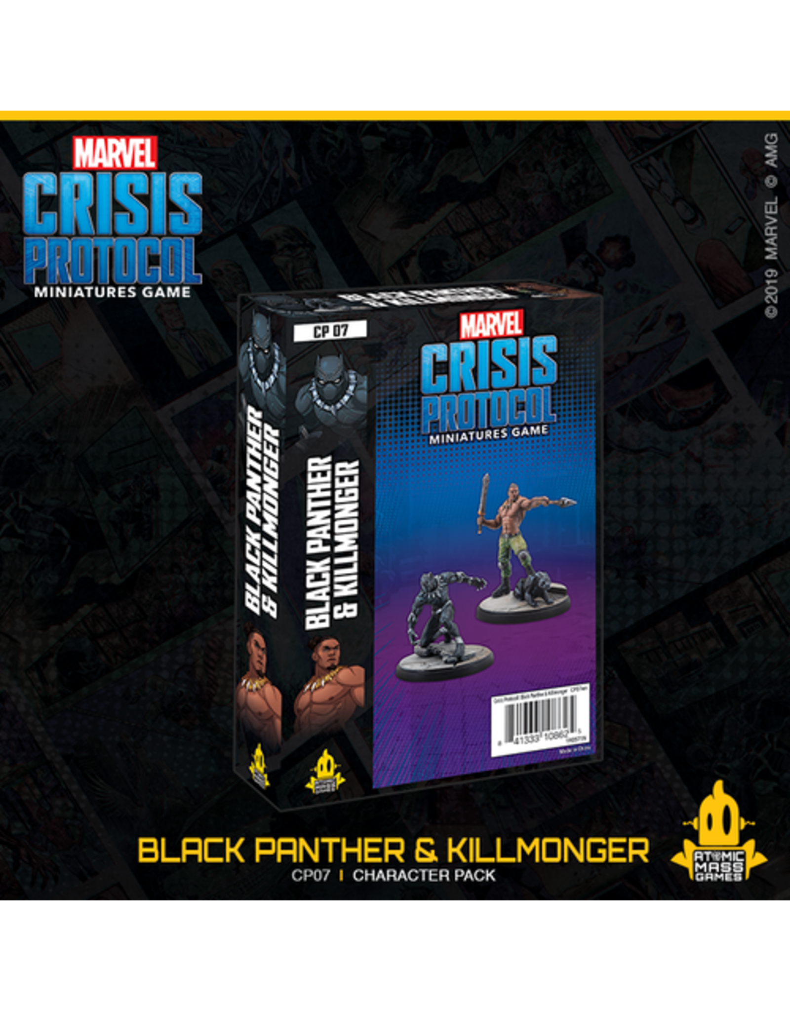 Atomic Mass Games Black Panther and Killmonger Character Pack - Marvel Crisis Protocol