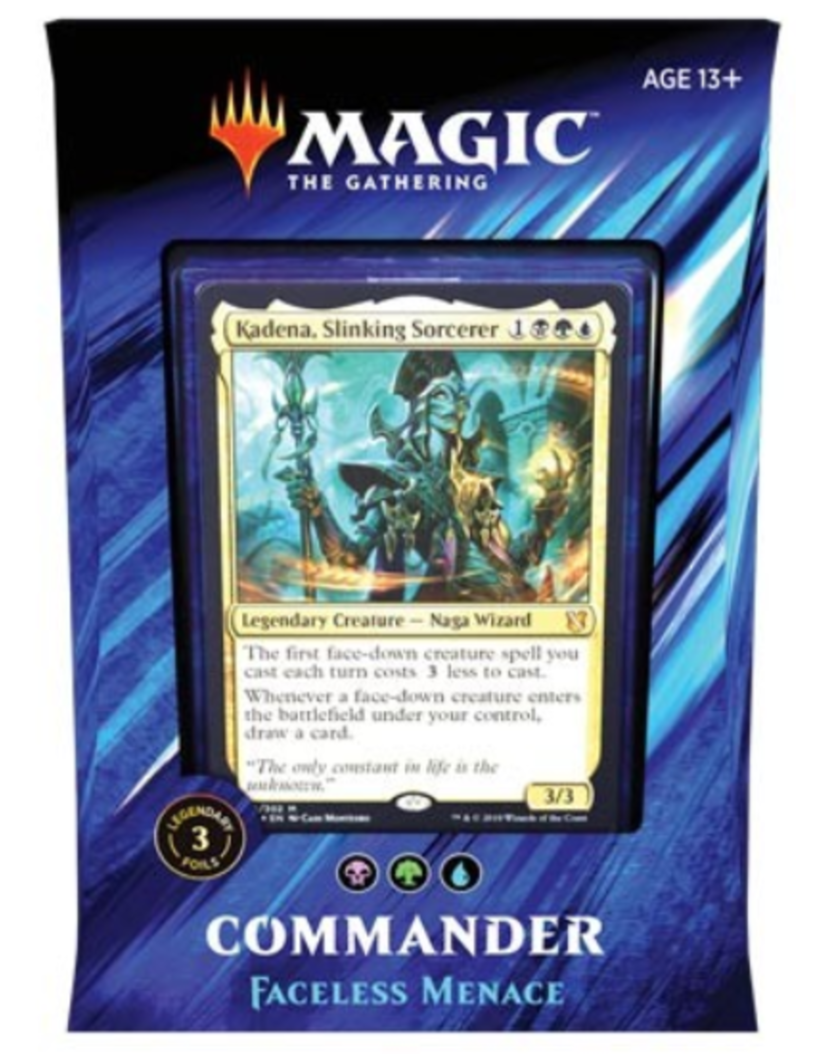 Wizards of the Coast Magic: Commander 2019 Deck: v1 Faceless Menace (Sultai Morph)