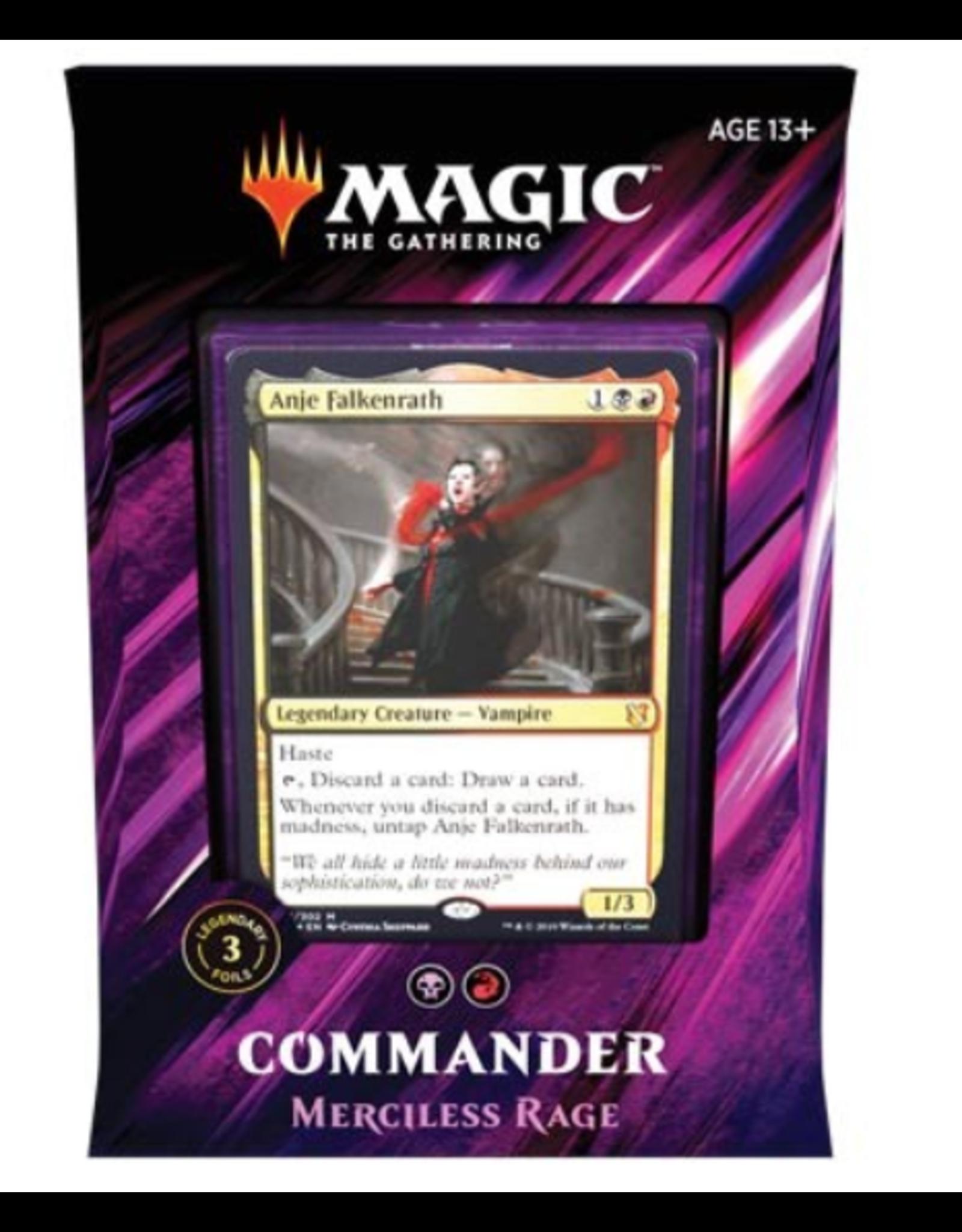 Wizards of the Coast Magic: Commander 2019 Deck: v4 Merciless Rage (Rakdos Madness)