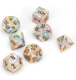 Chessex Polyhedral 7 Dice Set Festive Vibrant w/Brown CHX27441