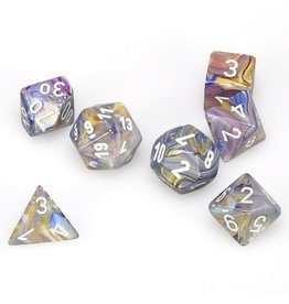 Chessex Polyhedral 7 Dice Set Festive Carousel w/White CHX27440
