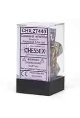 Chessex Polyhedral 7 Dice Set Festive Carousel w/White CHX27440