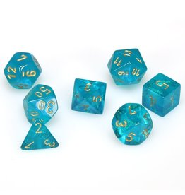 Chessex Polyhedral 7 Dice Set Borealis Teal w/Gold CHX27486