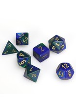 Chessex Polyhedral 7 Dice Set Gemini Blue-Green w/Gold CHX26436