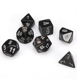 Chessex Polyhedral 7 Dice Set Borealis Smoke w/Silver CHX27428