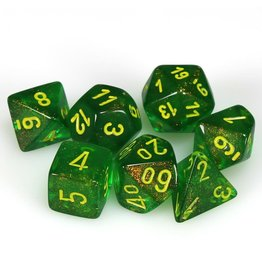 Chessex Polyhedral 7 Dice Set Borealis Maple Green/Yellow CHX27565