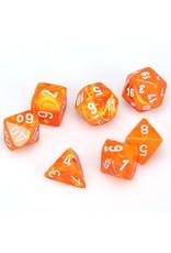 Chessex Polyhedral 7 Dice Set Vortex Solar w/White CHX27423